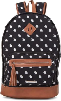 Madden-Girl Black Unicorn Canvas Backpack