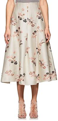 Co Women's Floral-Jacqurd Pleated Skirt