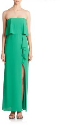 BCBGMAXAZRIA Felicty Strapless Popover Gown $298 thestylecure.com