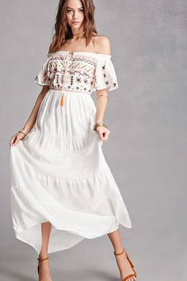 FOREVER 21+ Floral Embroidered Maxi Dress $48 thestylecure.com