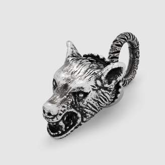 Gucci Anger Forest wolf head charm