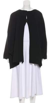 eskandar Rib Knit Long Sleeve Cardigan