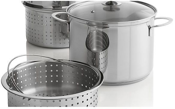 Crate & Barrel Stainless Cookware by Berndes 8 qt. Multi Cooker with Lid