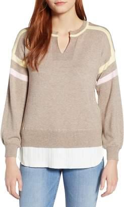 Wit & Wisdom Layered Look Stripe Sweater