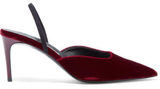 Stella McCartney Velvet Slingback Pumps - Burgundy