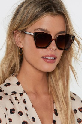 Nasty Gal Eye Knew It Cut-Out Tortoiseshell Sunglasses