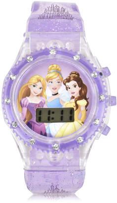 DISNEY PRINCESS Disney Princess Unisex Purple Strap Watch-Pn4169jc