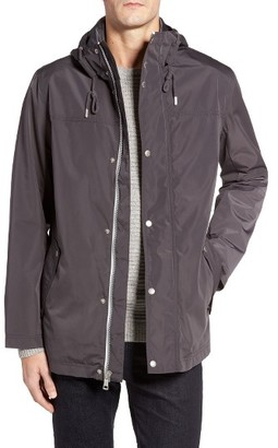 Men's Cole Haan Packable Hooded Rain Jacket $250 thestylecure.com