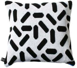 TiCTAC Giannina Capitani - Tic-Tac Cushion Large - White & Black/Blue Zip