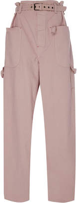 Isabel Marant Inny High-Rise Belted Cotton Pants