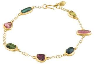 Pippa Small 18K Tourmaline Station Bracelet