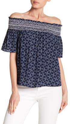 Laundry by Shelli Segal Printed Off Shoulder Top