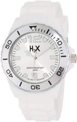 Haurex H2X Men's SW382UW1 Reef Luminous Water Resistant White Soft Rubber Watch