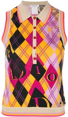 Christian Dior Pre-Owned argyle printed vest
