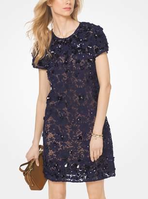 MICHAEL Michael Kors Floral Applique Lace Shift Dress