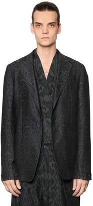 Etro Deconstructed Cotton & Wool Twill Jacket