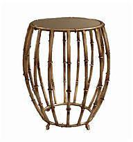 One Kings Lane Belfast Drum Table - Antiqued Brass
