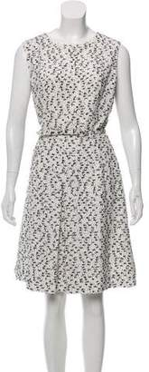 Oscar de la Renta Tweed Knee-Length Dress