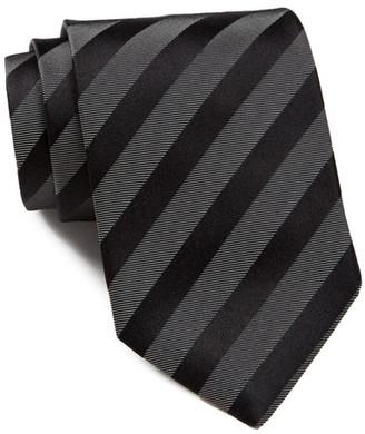 BOSS HUGO BOSS Stripe Silk Tie $95 thestylecure.com