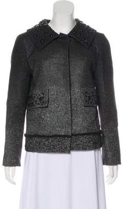Alberta Ferretti Embellished Button-Up Jacket