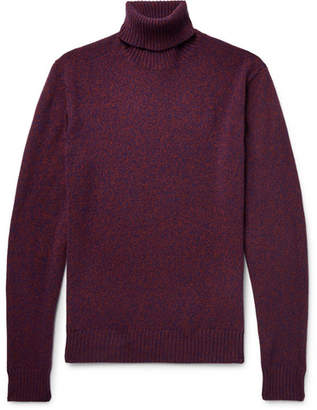 Lardini Slim-Fit Mélange Wool Rollneck Sweater