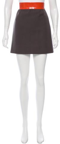 Chloé Chloé Wool Mini Skirt