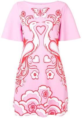 Valentino Phoenix Crepe de Chine dress