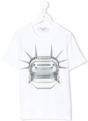 Neil Barrett Kids liberty print T-shirt