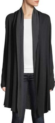 Neiman Marcus Majestic Paris for Cotton-Cashmere Double-Face Waterfall Cardigan