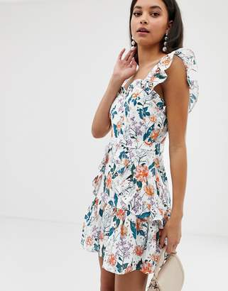 Talulah Fly Away floral print dress with broderie anglaise