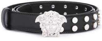 Versace slim Medusa studded belt