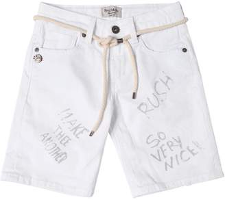 Fred Mello Printedstretch Denim Shorts