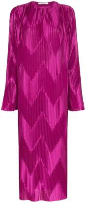 Givenchy Chevron pleat loose-fit dress