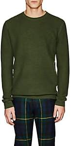 Barneys New York Men's Waffle-Knit Cashmere Sweater-Green