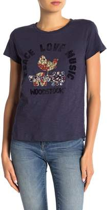 Lucky Brand Woodstock Embroidered Tee