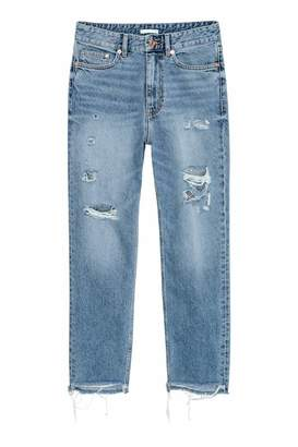 H&M Straight Ankle High Jeans