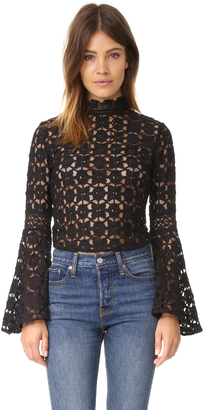 Free People Kiss & Bell Lace Top $168 thestylecure.com