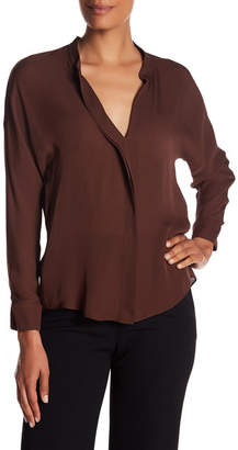 VINCE. Silk Pleated Front Long Sleeve Blouse $295 thestylecure.com