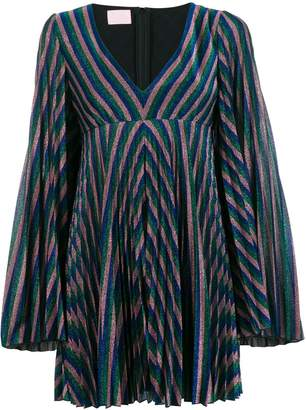 Giamba metallic striped mini dress