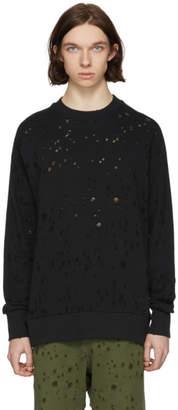Diesel Black S-Graham Distress Sweatshirt