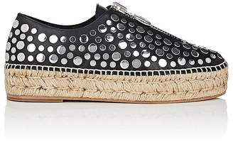 Alexander Wang Women's Devon Studded Leather Platform Espadrilles