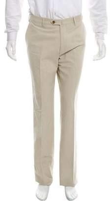 Loro Piana Flat Front Felted Pants