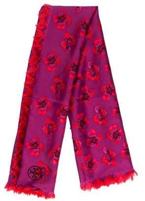 Tory Burch Floral Silk Scarf