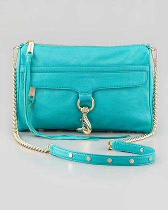 Rebecca Minkoff MAC Clutch Crossbody Bag, Sea-Green