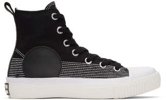McQ Black Plimsoll High-Top Sneakers