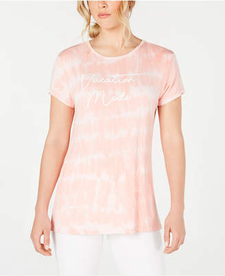 Ideology Tie Dyed Vacation Mode Split-Back T-Shirt
