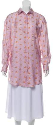 Paul & Joe floral-Print Button-Up Top w/ Tags
