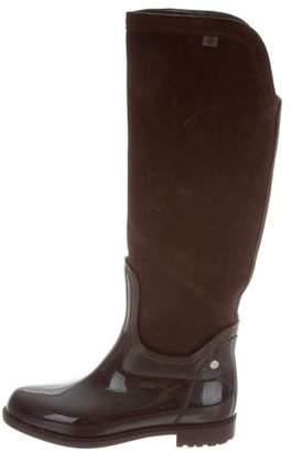 LK Bennett Suede & Rubber Boots
