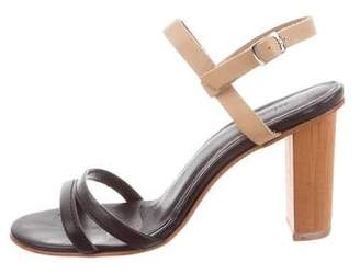 A Détacher Leather Ankle Strap Sandals