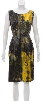 Alberta Ferretti Printed Knee-Length Dress